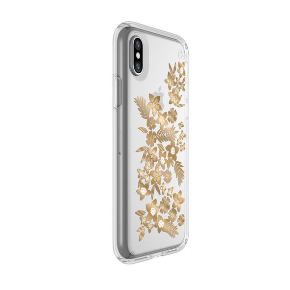 Shop Australia stock SPECK PRESIDIO CLEAR PRINT CASE FOR iPHONE XS/X - FLORAL METALLIC GOLD YELLOW with free shipping online. Shop Speck collections with afterpay Australia Stock