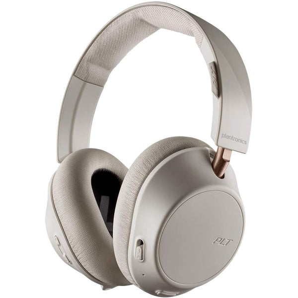 buy online cream headset bluetooth premium product from plantronics