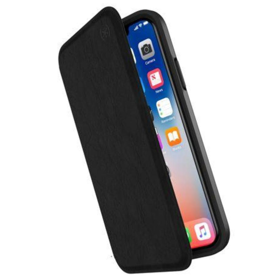 Grab it fast PRESIDIO CARD FOLIO LEATHER CASE FOR IPHONE XS MAX - BLACK/BLACK FROM SPECK with free shipping Australia wide. Australia Stock