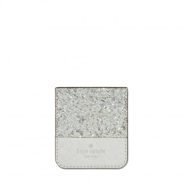 Pocket style For Smartphone. Silver glitter style