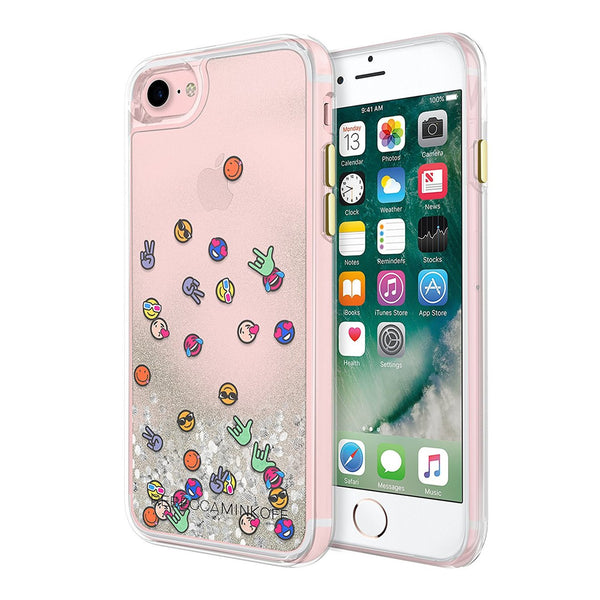 Shop Australia stock Rebecca Minkoff Glitterfall Designer Protective Case for iPhone 8/7 - Emojis with free shipping online. Shop Rebecca Minkoff collections with afterpay