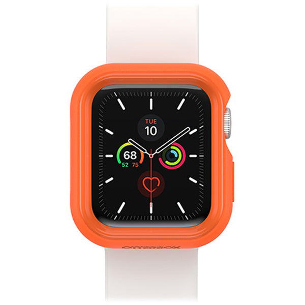 protective silicone rubber case orange white colour for apple watch series se/6/5/4 . buy online with genuine product at syntricate