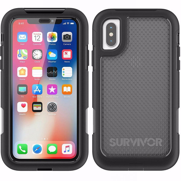 Place to buy from trusted online store for Griffin Survivor Extreme Slim Fit Case For Iphone X - Black/Tint Color. Free shipping express australia wide.