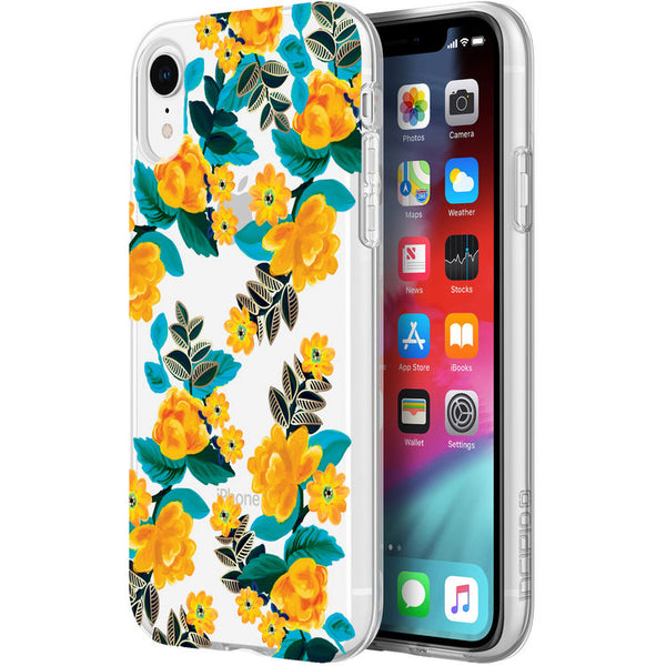 pattern case with yellow flower for iphone xr. shop online at syntricate and enjoy afterpay payment with interest free.