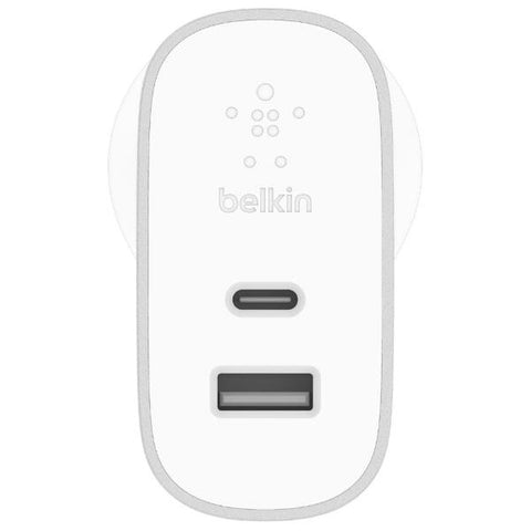Get the latest stock BOOST CHARGE 27W USB-C + 12W USB-A WALL CHARGER - SILVER FROM BELKIN free shipping & afterpay.