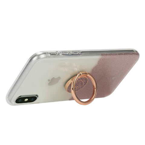 Place to buy GIFT SET PROTECTIVE CASE & RING STAND FOR IPHONE XS MAX - SCALLOP ROSE GOLD/CLEAR FROM KATE SPADE NEW YORK online in Australia free shipping & afterpay.