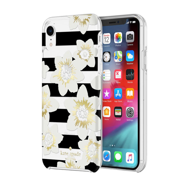 Shop Australia stock KATE SPADE NEW YORK PROTECTIVE HARDSHELL CASE FOR IPHONE XR - GARDEN BLOOM BLACK/GOLD/GEM with free shipping online. Shop Kate Spade New York collections with afterpay