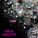 real tumbling liquid glitter silver Samsung Galaxy S10 case from casemate