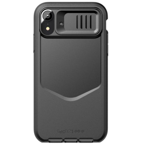 iphone xr rugged case australia. black colour flexshock technology from tech21. shop online at syntricate with free shipping australia wide and afterpay payment.