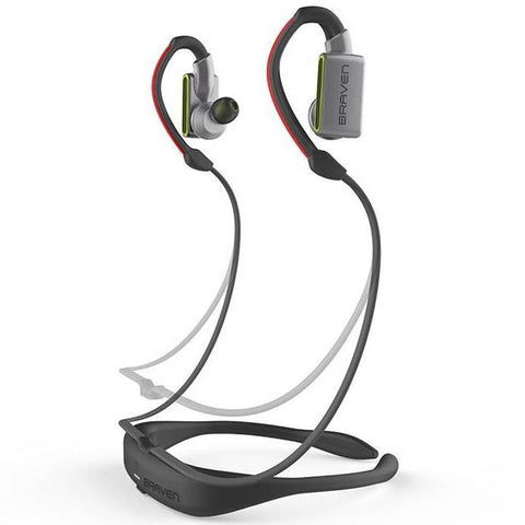 BRAVEN FLYE SPORT POWER BLUETOOTH EARBUDS - SILVER/GREEN