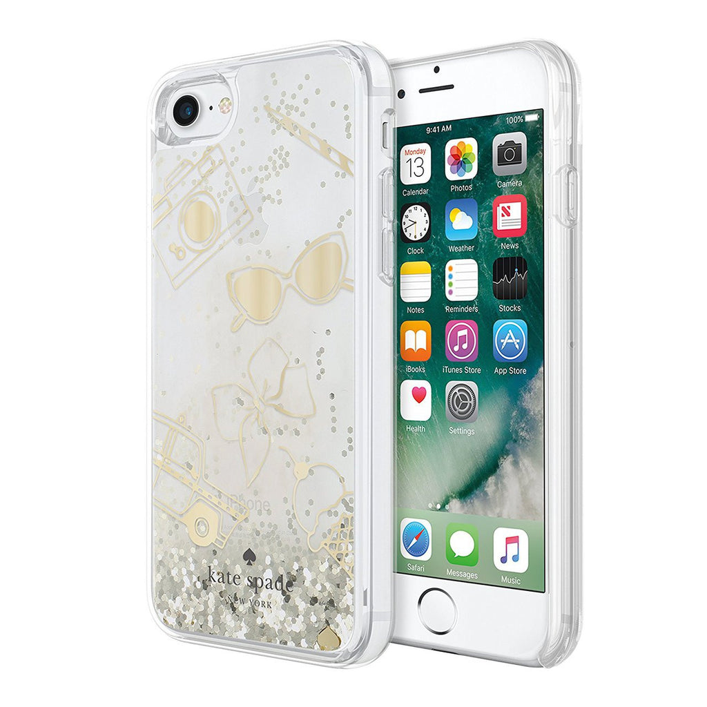 buy authentic case from Kate Spade New York Clear Liquid Glitter Case for iPhone 8/7 - Gold / Favorite Things free shipping australia wide. Australia Stock