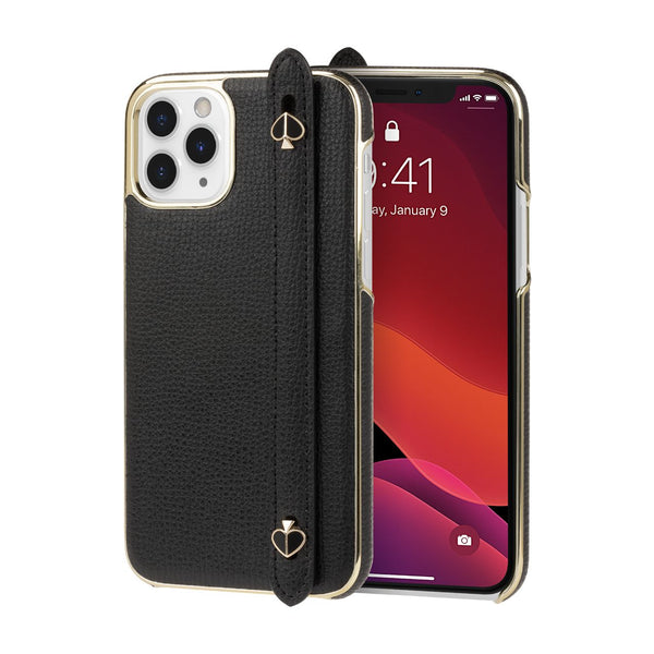 iphone 11 pro designer case with strap from kate spade new york black colour elegant cute case