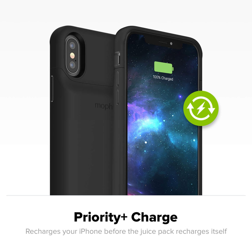Shop Australia stock MOPHIE JUICE PACK ACCESS 2000 mAH BATTERY CASE FOR IPHONE XS/X- BLACK with free shipping online. Shop Mophie collections with afterpay Australia Stock