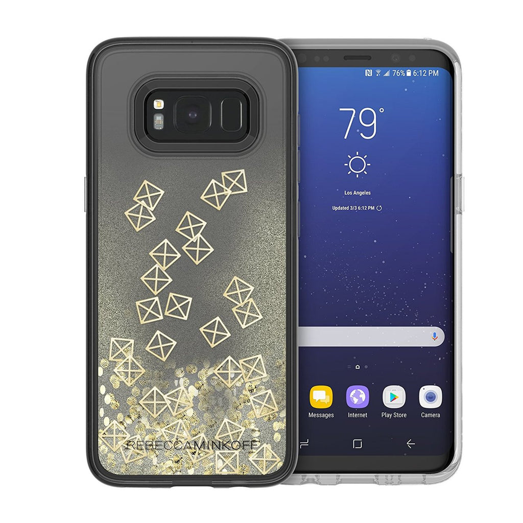 Shop Australia stock REBECCA MINKOFF GLITTER FALL CASE FOR GALAXY S8+ (6.2 inch) - GOLD STUDS with free shipping online. Shop Rebecca Minkoff collections with afterpay Australia Stock
