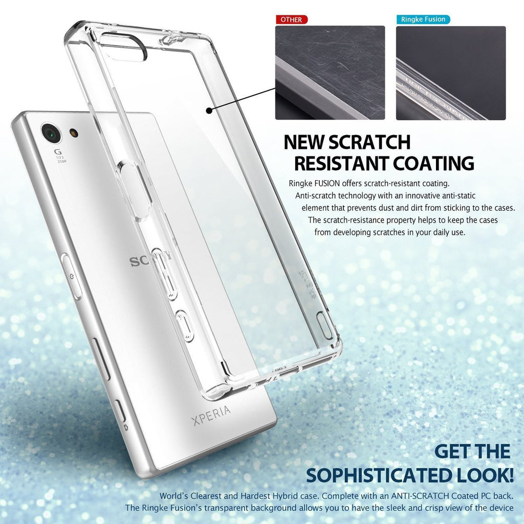 Shop Australia stock Ringke Fusion Sleek Impact case for Xperia Z5 Compact - Crystal View with free shipping online. Shop Ringke collections with afterpay Australia Stock
