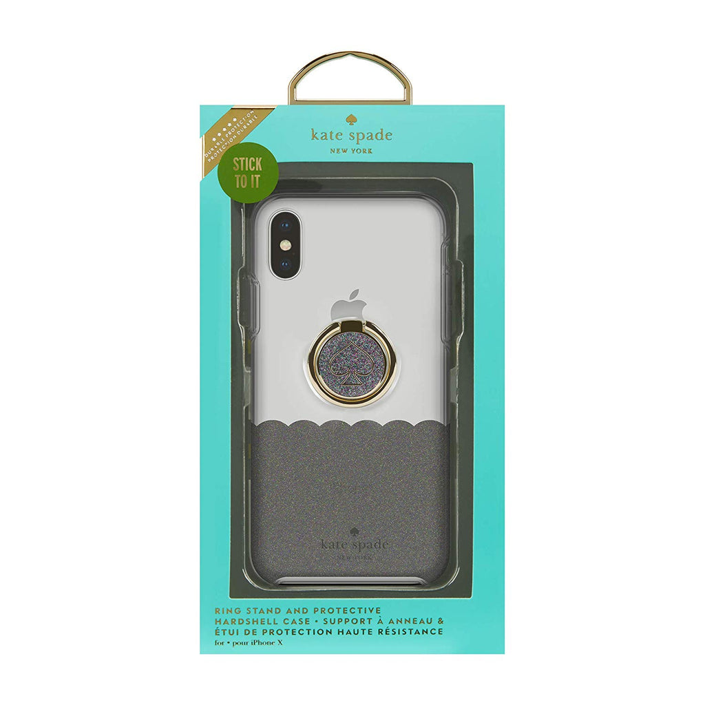 Shop Australia stock KATE SPADE NEW YORK GIFT SET PROTECTIVE CASE & RING STAND FOR IPHONE XS/X - SCALLOP BLACK MULTI/CLEAR with free shipping online. Shop Kate Spade New York collections with afterpay Australia Stock