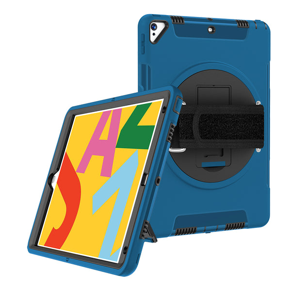 FLEXII GRAVITY 360 ARMOR CASE W/HAND STRAP FOR IPAD AIR (3RD GEN) PRO 10.5 - BLUE
