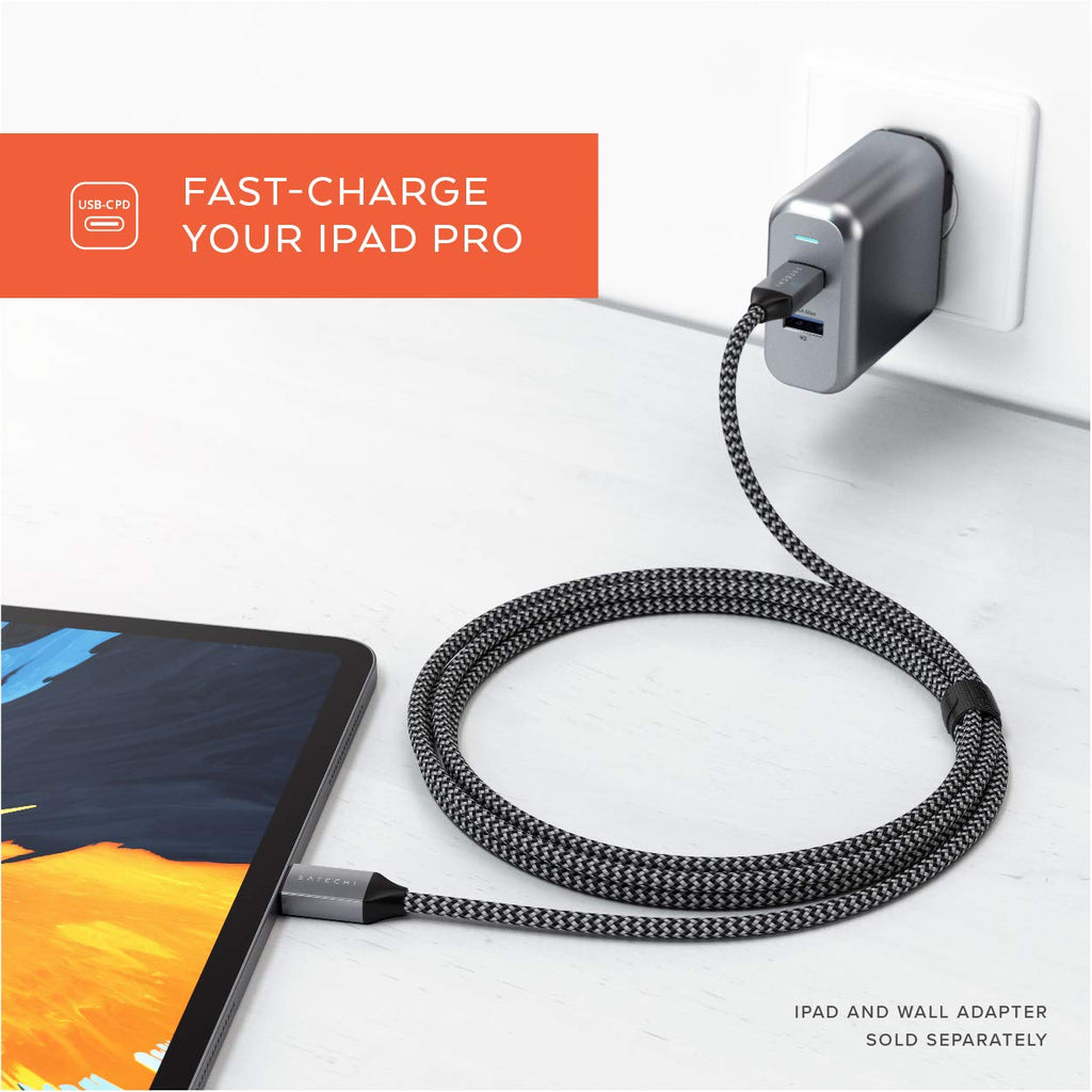 Shop Australia stock SATECHI USB-C TO USB-C 100W BRAIDED CHARGING CABLE 2 METER with free shipping online. Shop SATECHI collections with afterpay Australia Stock