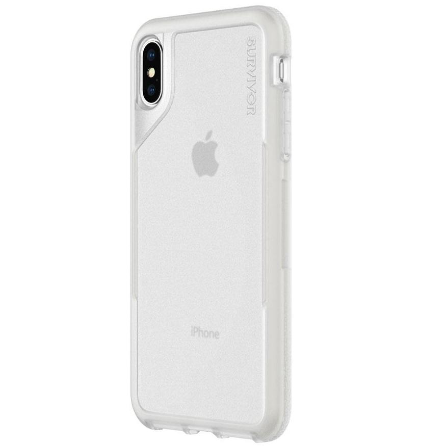 GRIFFIN SURVIVOR ENDURANCE CASE FOR IPHONE XS/X - CLEAR/GRAY Australia Stock