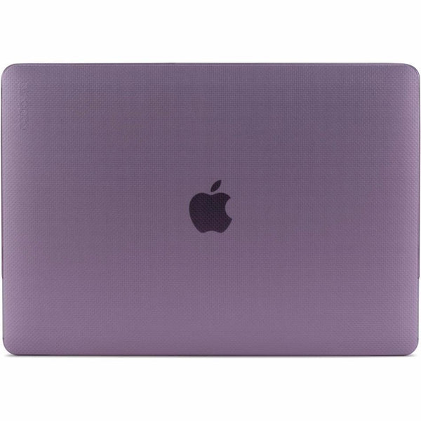 ruberized feet for increase stability incase hardshell dot case for macbook pro 13 inch (usb-c) Orchid Purple Colour