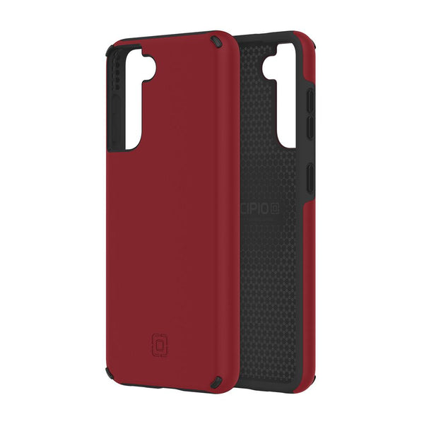 dual tone identic incipio red and black. premium case for s21 plus with edge protection