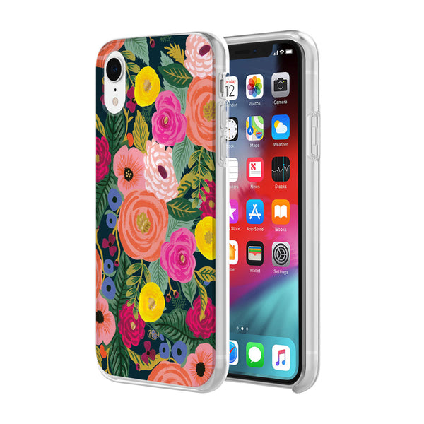 pattern case for iphone xr with colorful flower case for women.