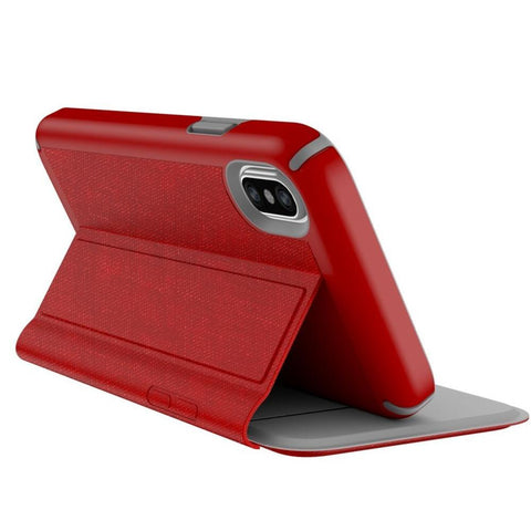 foldable design red case from speck australia, designed for iPhone Xs & iPhone X
