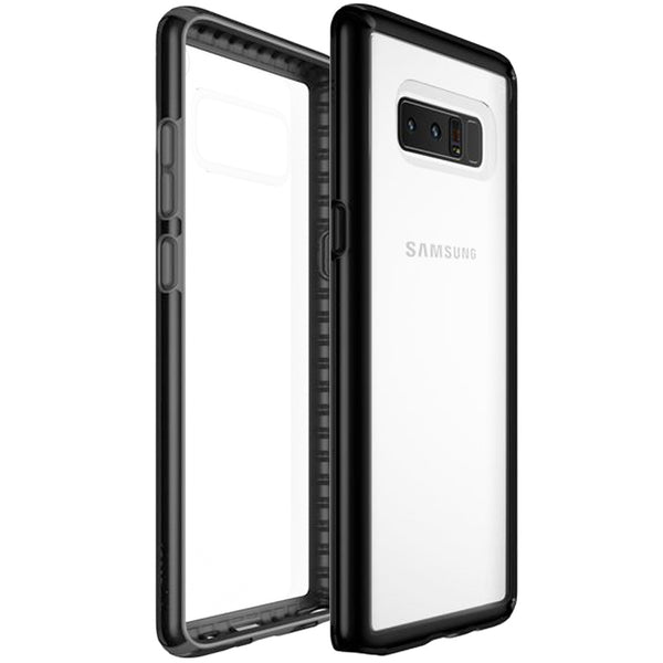 buy speck presidio show impactium slim cases for galaxy note 8 – clear/black australia