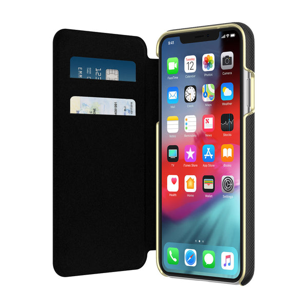 Shop Australia stock KATE SPADE NEW YORK CARD FOLIO CASE FOR iPHONE XS MAX - SAFFIANO BLACK with free shipping online. Shop Kate Spade New York collections with afterpay