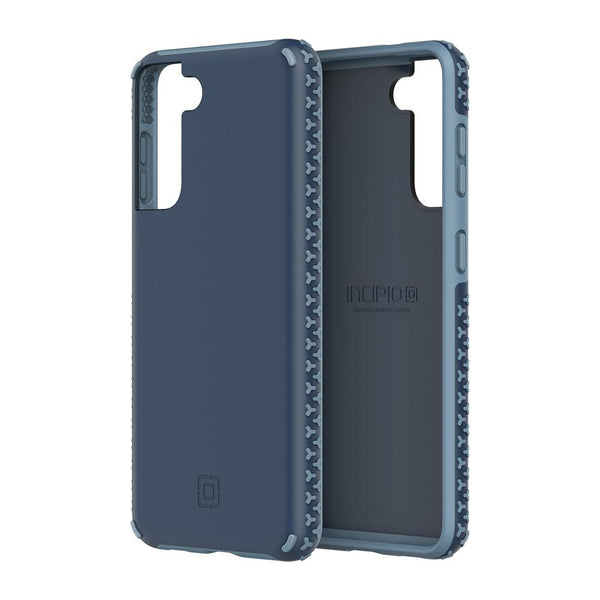 Blue incipio grip that comes with new design on the side for samsung s21 plus. Unique dual tone blue to prevent slip.