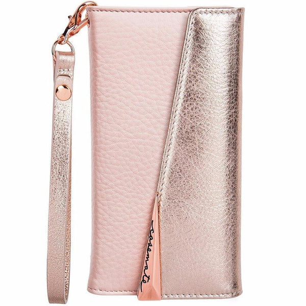 cute and enormous casemate wristlet folio pebbled leather case for iphone 8 plus/7 plus rose gold official distributor and free shipping australia