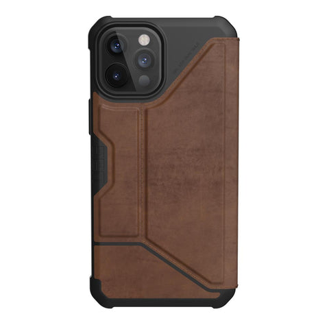 "Get the latest iPhone 12 Pro / 12 (6.1"") UAG Metropolis Card Folio Case - Leather Brown Online local Australia stock."