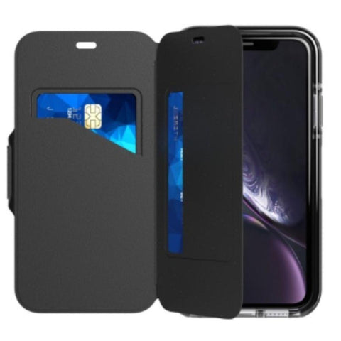 folio case for iphone xr from tech21 with card slot. shop online and get free express shipping only at syntricate australia.