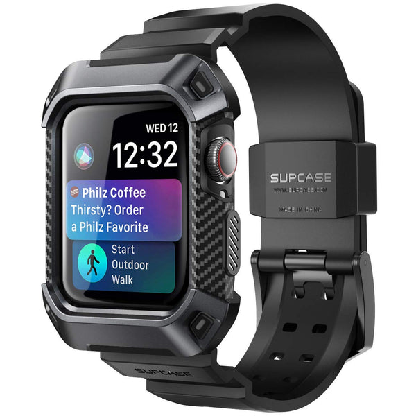 Grab it fast UB PRO RUGGED PROTECTIVE CASE WITH STRAP BAND FOR APPLE WATCH SERIES 4 (40MM) - BLACK FROM SUPCASE with free shipping Australia wide.