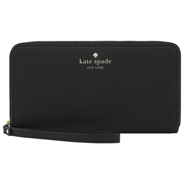 BUY genuine and authentic Kate Spade Wristlet Zip Wallet Case for Most Smartphones - Saffiano Black AUSTRALIA
