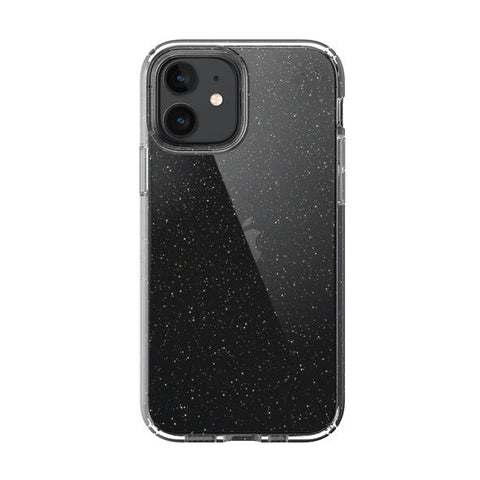 "Shop off your new iPhone 12 Mini (5.4"") Presidio Perfect-Clear With Glitter Case From SPECK - Clear/Gold Online local Australia stock."