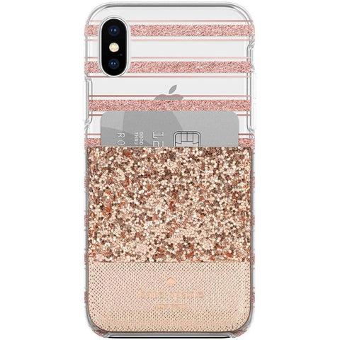 Shop Australia stock KATE SPADE NEW YORK STICKER POCKET FOR CASES - ROSE GOLD GLITTER SAFFIANO with free shipping online. Shop Kate Spade New York collections with afterpay