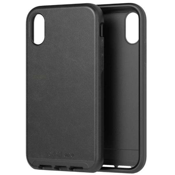 leather case for iphone xr black colour from tech21. buy online at syntricate and get free express shipping australia wide.