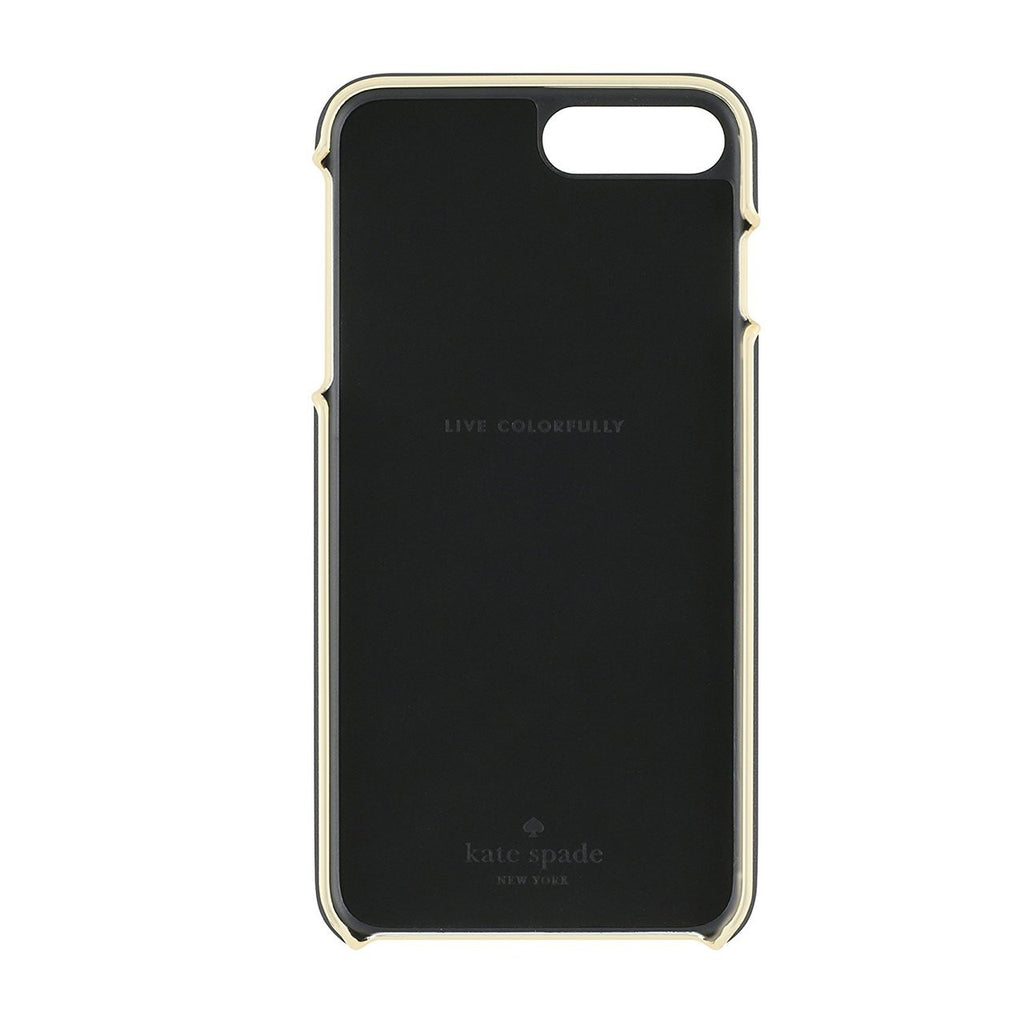 Kate Spade New York Wrap Case for iPhone 8 Plus/7 Plus - Saffiano black/Gold Logo Plate Australia Stock