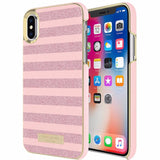 New fashionable cases collections from Kate Spade New York Wrap Case For Iphone X - Glitter Stripe Rose Quartz Saffiano / Rose Gold. Buy it now from official online store offer free express shipping australia wide.\
