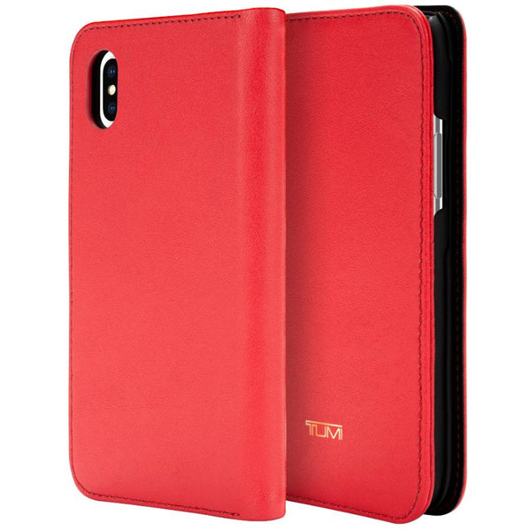 Get the latest LEATHER WALLET CARD FOLIO CASE FOR IPHONE XS/X - EMBER FROM TUMI with free shipping online.