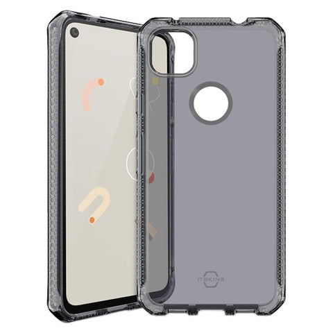 buy online google pixel 4a rugged clear case grey colour from itskins afterpay payment available