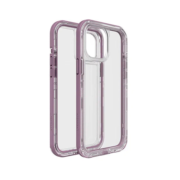 Lifeproof next for iphone 12 pro max. the ultimate clear case with pink color design. the case to show off your phone without sacraficing protection inside out