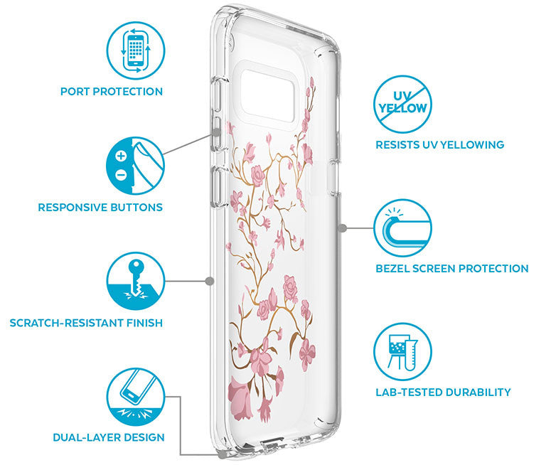 Shop Australia stock SPECK PRESIDIO IMPACTIUM CLEAR + PRINT CASE FOR GALAXY S8 - BLOSSOMS with free shipping online. Shop Speck collections with afterpay Australia Stock