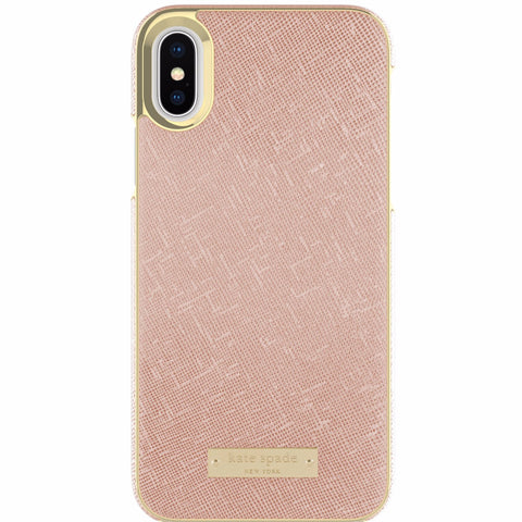 KATE SPADE NEW YORK WRAP CASE FOR iPHONE XS/X - SAFFIANO ROSE GOLD
