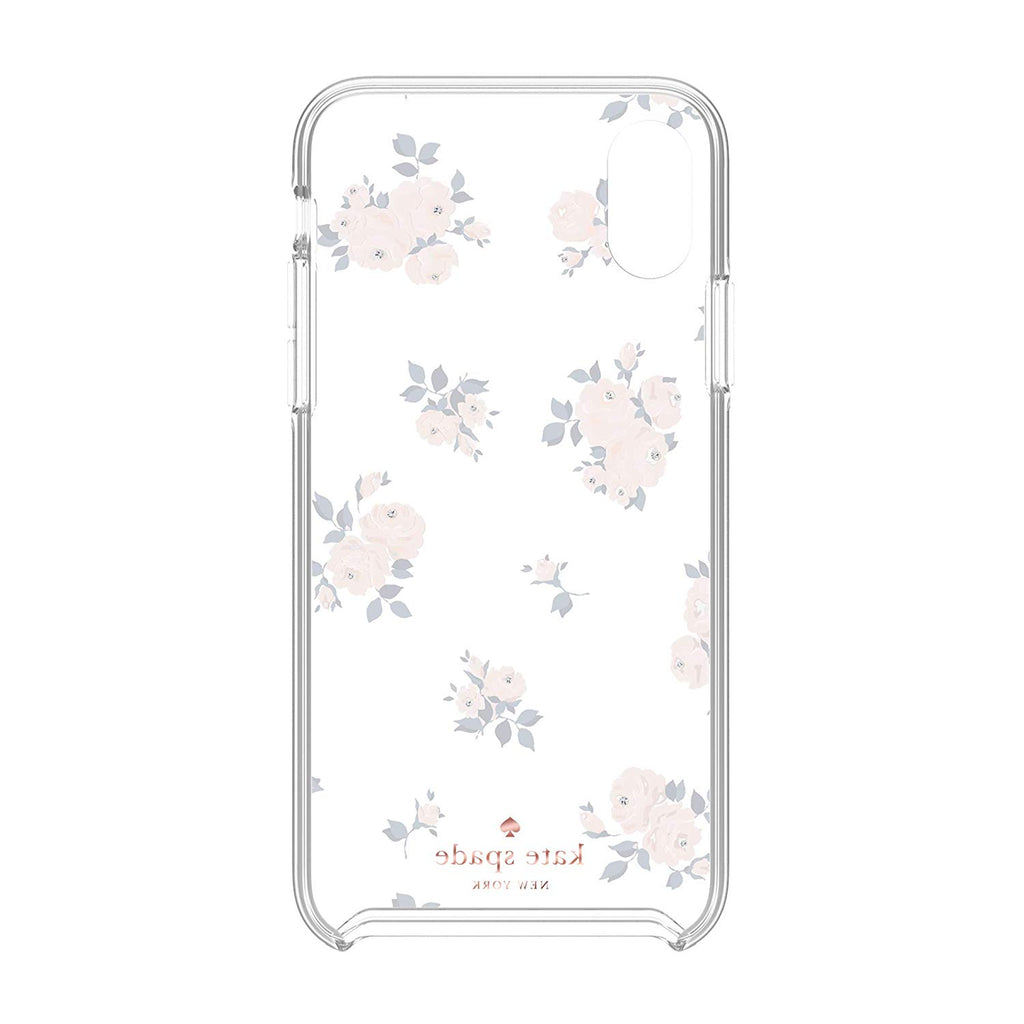 best website 1f104 3e6a4 KATE SPADE NEW YORK PROTECTIVE HARDSHELL CASE FOR IPHONE XS MAX - HAPPY  ROSE PINK/NAVY