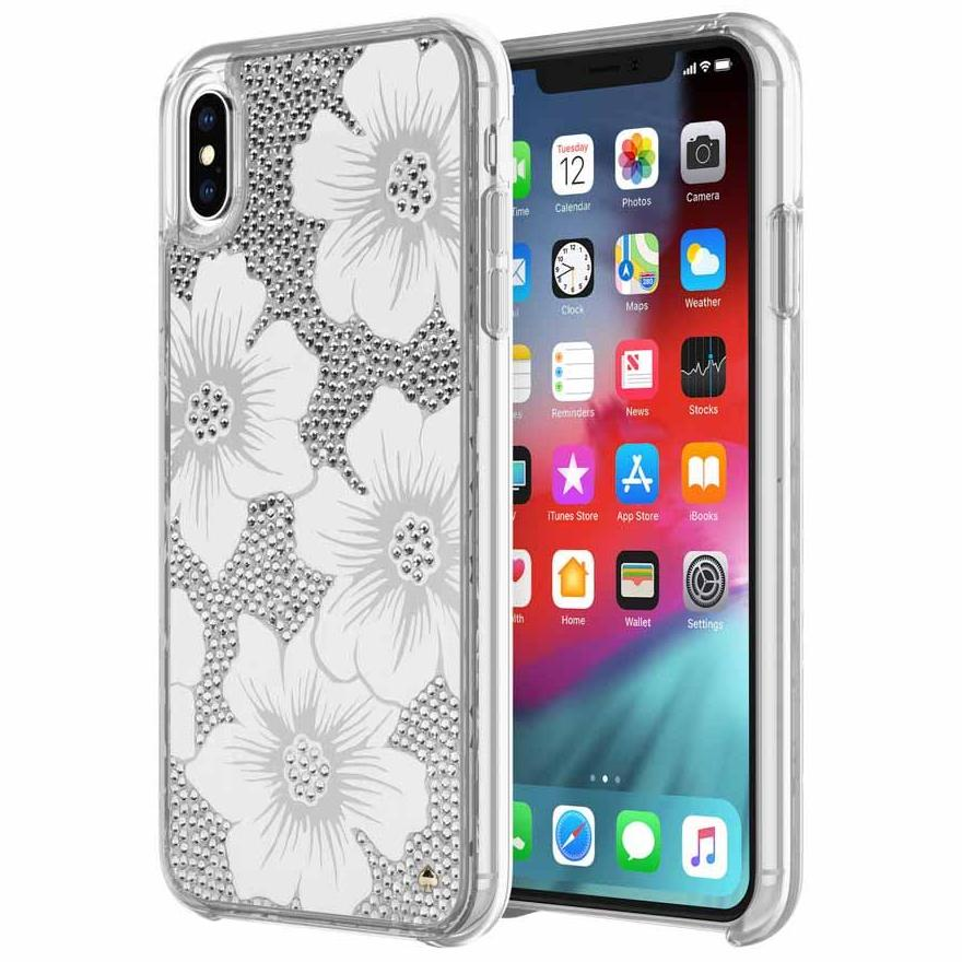 white flower style iPhone XS Max from kate spade NY with stylish design & free shipping Australia Stock