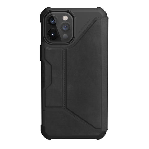 "Get the latest iPhone 12 Pro / 12 (6.1"") UAG Metropolis Card Folio Case - Leather Black Online local Australia stock."