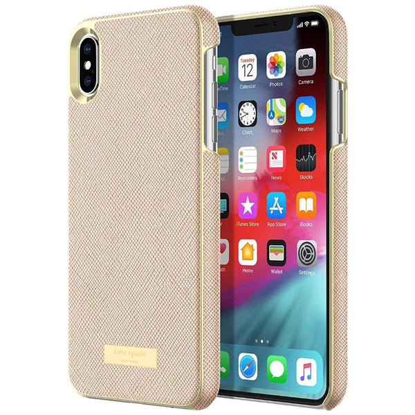 KATE SPADE NEW YORK WRAP CASE FOR IPHONE XS MAX - SAFFIANO ROSE GOLD