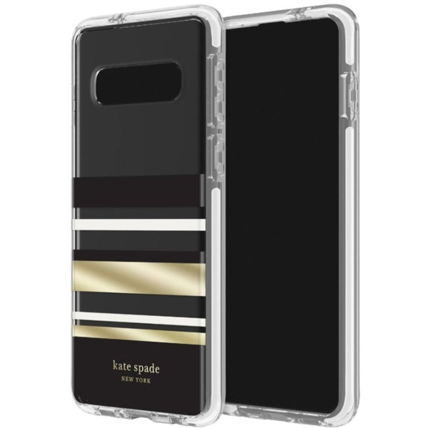 cute case with gold stripe from kate spade for samsung galaxy s10